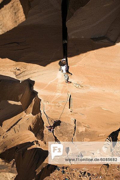 Felsbrocken  Schwierigkeit  Klettern  Utah