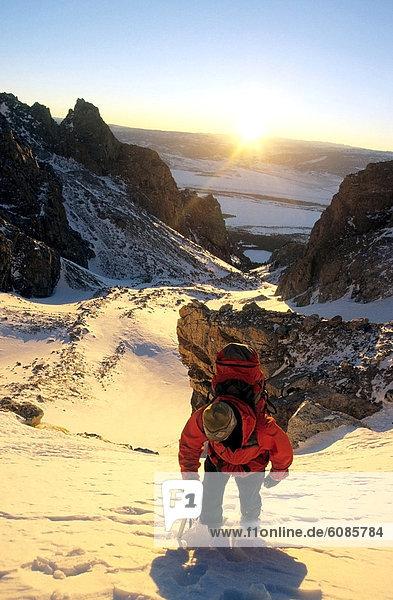 hinter  Winter  Sonnenuntergang  Produktion  Ehrfurcht  Klettern  Anstieg  Wyoming
