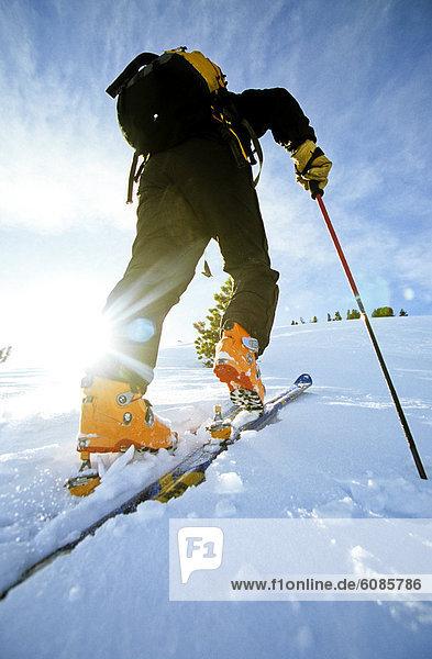 Skifahrer  Ehrfurcht  Skisport  Klettern  Wyoming