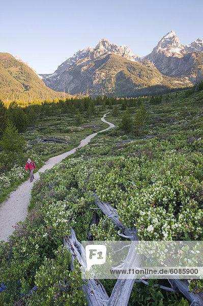 Frau  nehmen  Morgen  folgen  rennen  Ehrfurcht  früh  jung  Wyoming