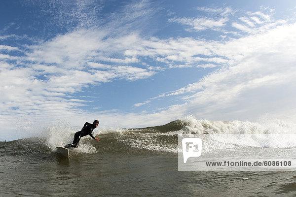 Wolke  Himmel  fahren  Hintergrund  blau  Wasserwelle  Welle