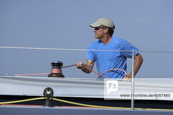 Segeln  Yacht  beschneiden  Tuch  Teamwork  Mitglied
