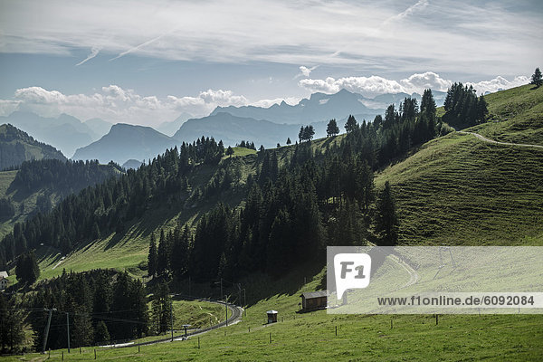 Schweiz  Blick auf Rigi Kulm