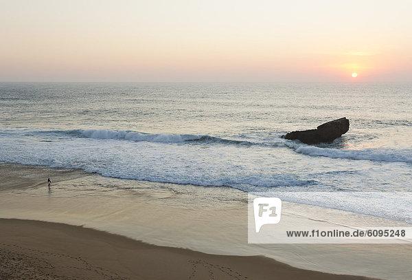 Portugal  Surfer on beach