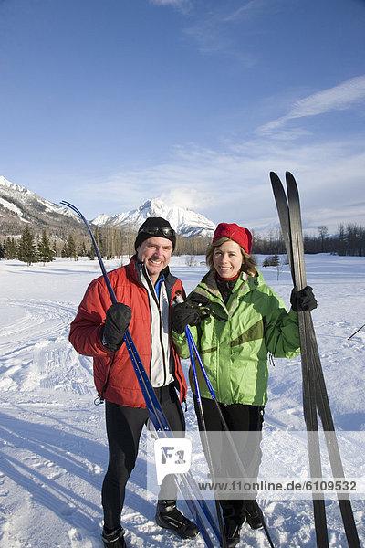 folgen  Ski  Ausgangspunkt eines Wanderweges