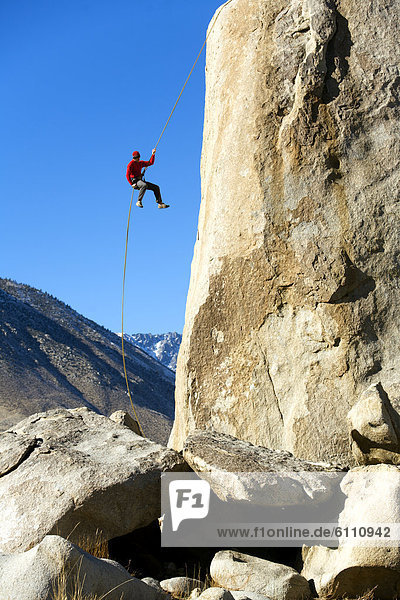 abseilen  Klettern  Boulder