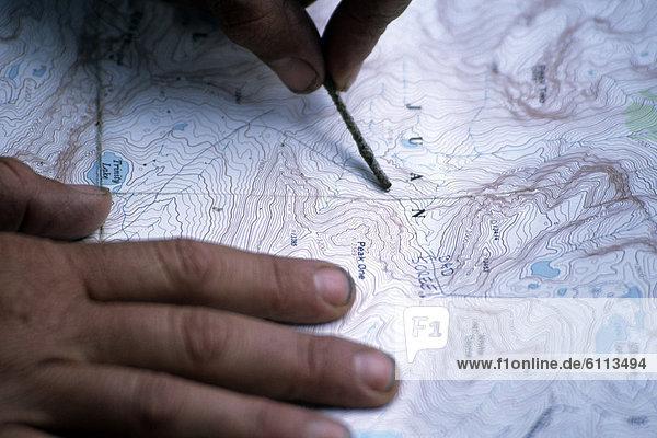 Landkarte  Karte  wandern  vorlesen