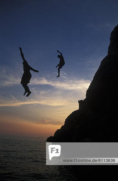 Steilküste, Meer, springen