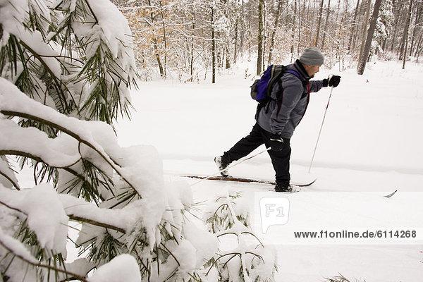 überqueren  Mann  Skisport  Kreuz  Maine