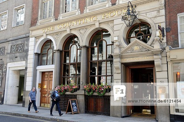 Wohnhaus London Hauptstadt Halle Ehrfurcht Finanzmarkt zählen bauen sprechen City of London Kneipe