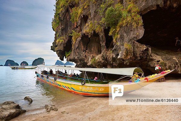 Thailand - James Bond Island  Phang Nga Bay  long tail boat