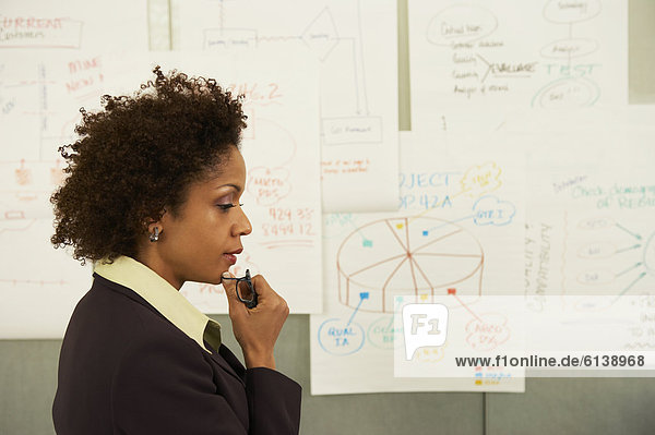 Geschäftsfrau , Diagramm