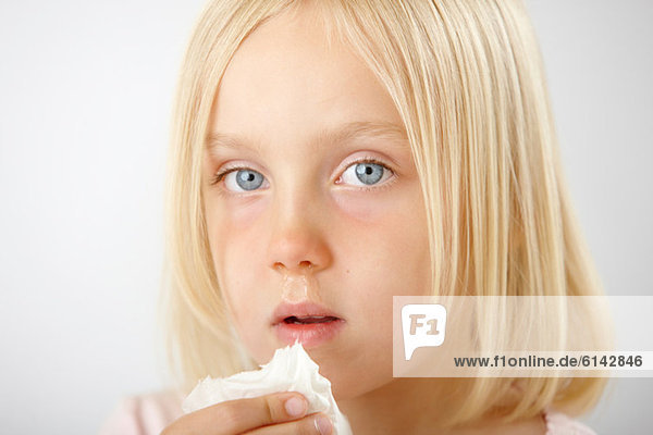 Girl with runny nose