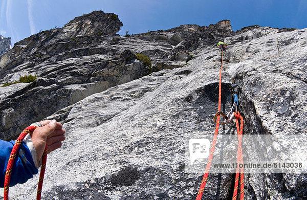 Klettersicherung  Mount Berge  Cascade Range  Washington  USA