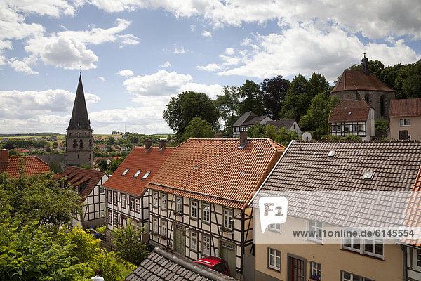 Mittelalter Europa über Stadt Ansicht Deutschland Nordrhein-Westfalen Nordrhein-Westfalen