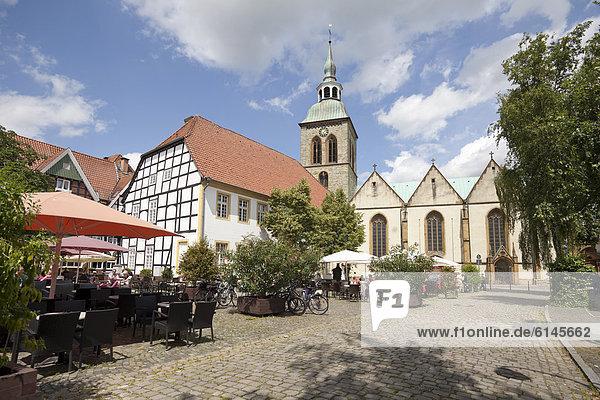 Europa Geschichte Kirche Quadrat Quadrate quadratisch quadratisches quadratischer Ortsteil Deutschland Nordrhein-Westfalen Rheda-Wiedenbrück Nordrhein-Westfalen