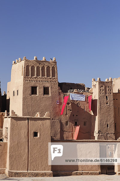 Taourirt Kasbah in Ouarzazate  Souss-Massa-Dra'  Morocco  Maghreb  North Africa  Africa