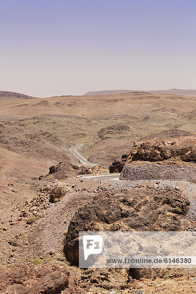Lunar landscape in the Atlas Mountains  Morocco  Maghreb  North Africa  Africa