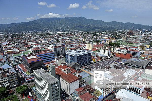 Großstadt Mittelamerika Ansicht lateinamerikanisch Luftbild Costa Rica