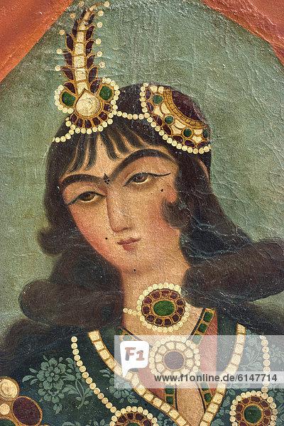 Qajar painting  Shiraz Museum  Shiraz  Iran  Middle East