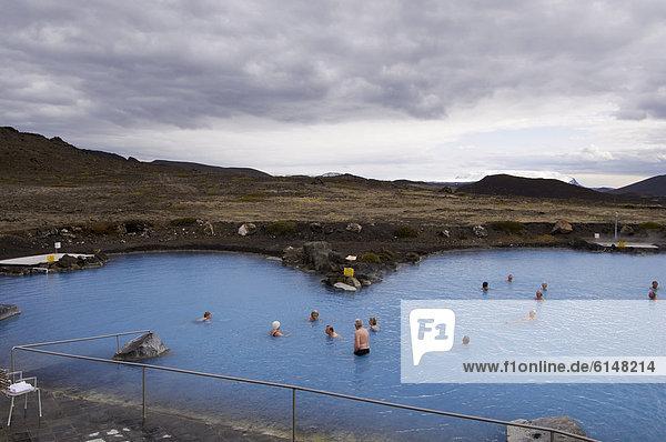 Geothermische heißer Frühling  Reykjahlid  Island  Polarregionen