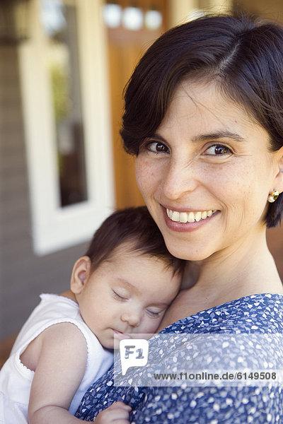 Portrait  schlafen  Mutter - Mensch  Baby