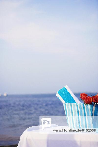 Strand  Handtuch  Rose