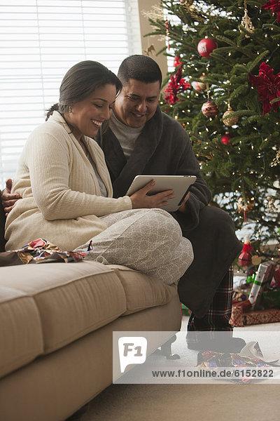 sehen Morgen Weihnachten Tablet PC