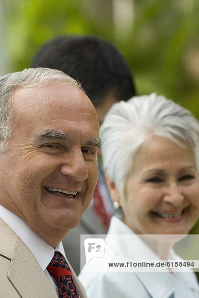 hoch  oben  nahe  Senior  Senioren  lächeln  Hispanier