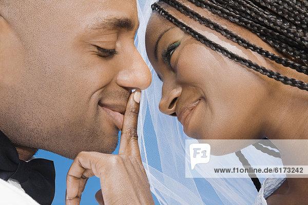 berühren  Braut mund