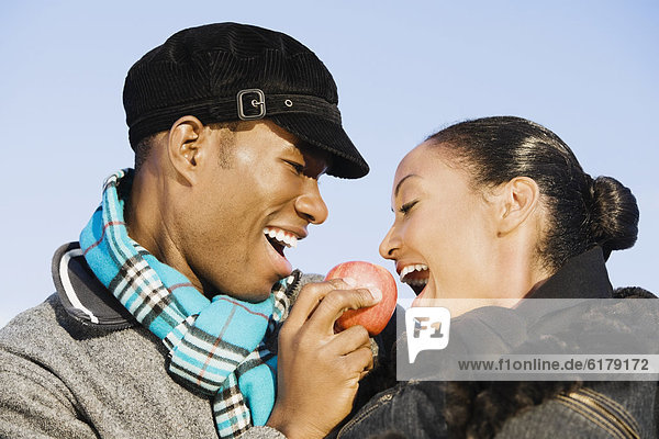 Apfel  multikulturell  essen  essend  isst