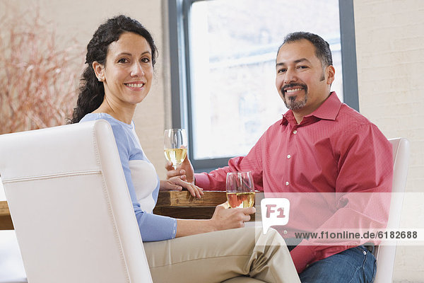 Wein  Hispanier  trinken
