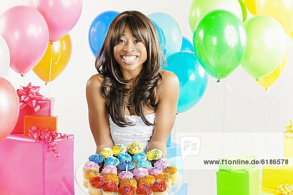 Geburtstagsgeschenk Frau Geburtstag amerikanisch cupcake