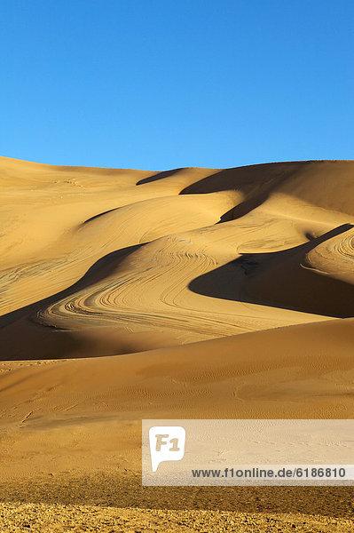 Himmel  Wüste  Sand  blau  Düne