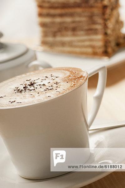Close up of Tasse Kaffee