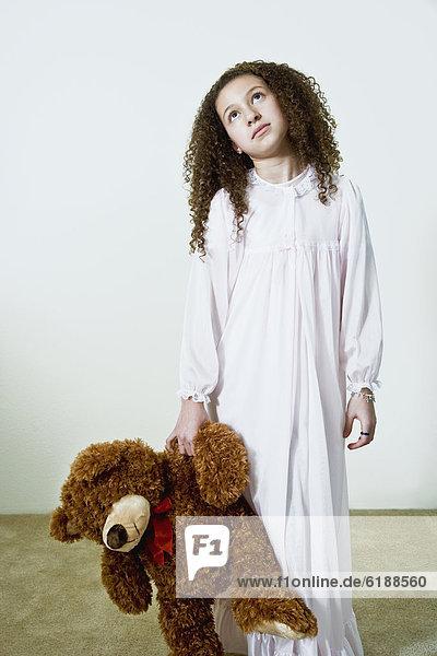 mischen  Teddy  Teddybär  Nachthemd  Mädchen  Mixed