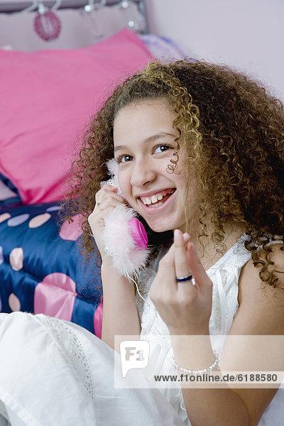 sprechen  Telefon  Spielzeug  mischen  Mädchen  Mixed