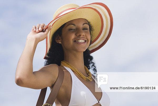 Sonnenhut  Frau  Bikini