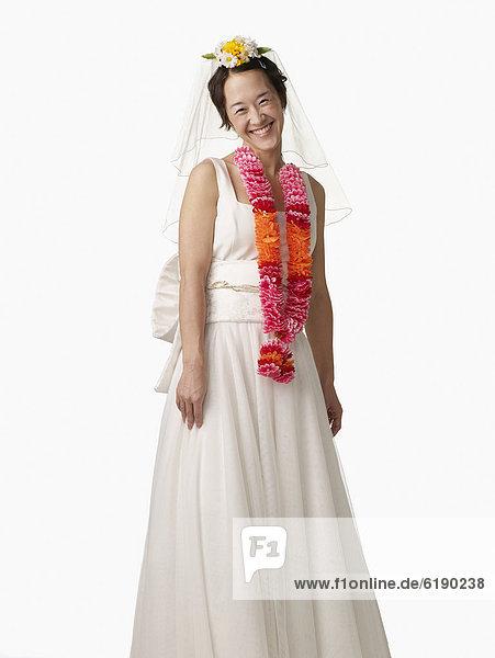 Frau  Hochzeit  Kleid  lei