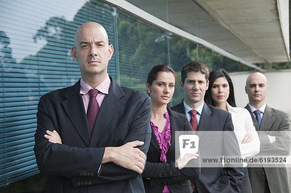 stehend  Zusammenhalt  Mensch  Menschen  Hispanier  Business