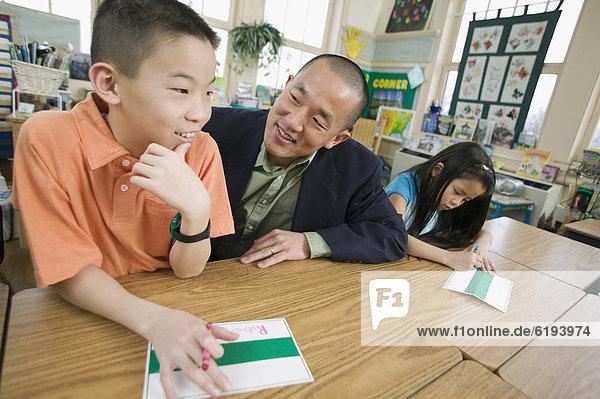 Hilfe  Lehrer  Schule  Student