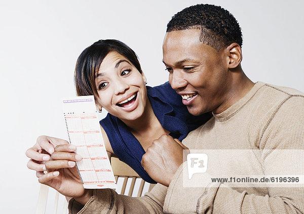 sehen  Begeisterung  Fahrschein  Lotto