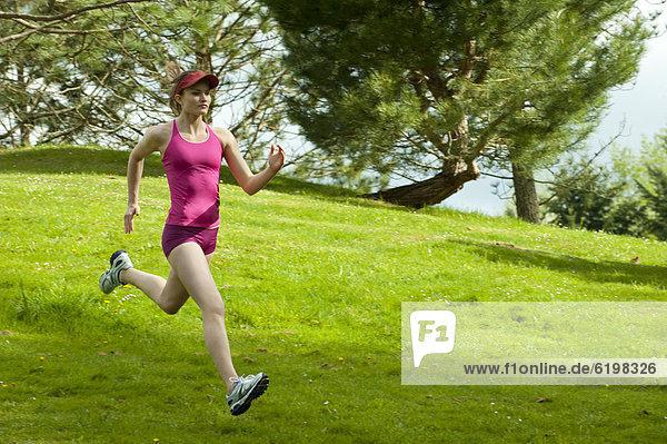 Frau  rennen  mischen  Mixed