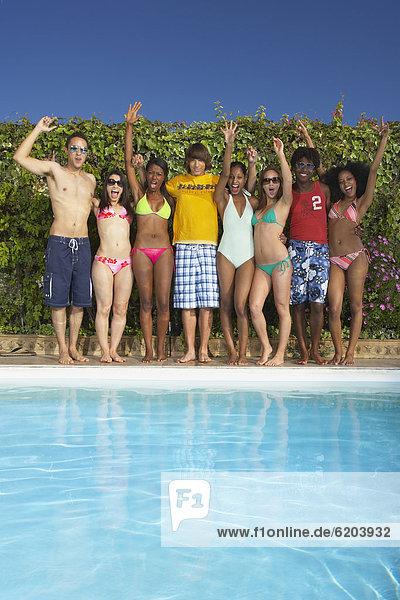 Fröhlichkeit Freundschaft Party multikulturell