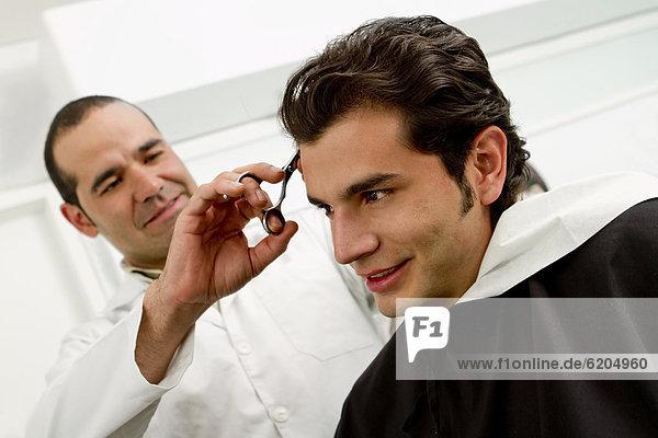 Mann  schneiden  Hispanier  Laden  Friseur  Haar