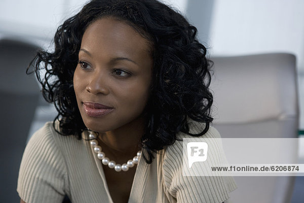 Geschäftsfrau  denken