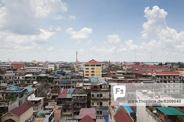 Dach Städtisches Motiv Städtische Motive Straßenszene Straßenszene Kambodscha