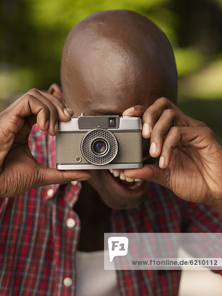 Mann Fotografie nehmen Retro