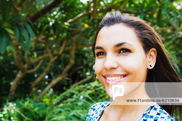 Frau  lächeln  mischen  Mixed