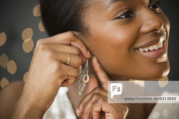 Ohrring  Frau  schwarz